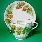 Aynsley Fern Leaf Teacup and Saucer