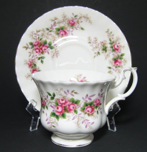 Vintage Bone China Lavender Rose