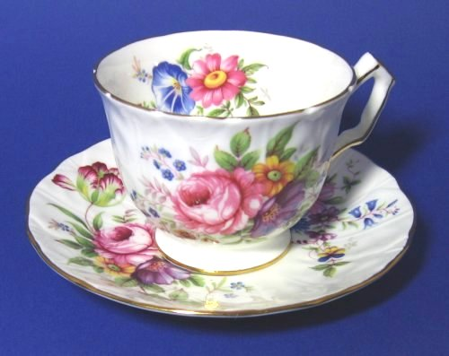 Aynsley Floral Tulip Teacup and Saucer