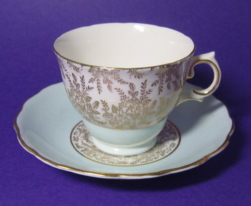 Royal Vale Gold Gilt Tea Cup and Saucer