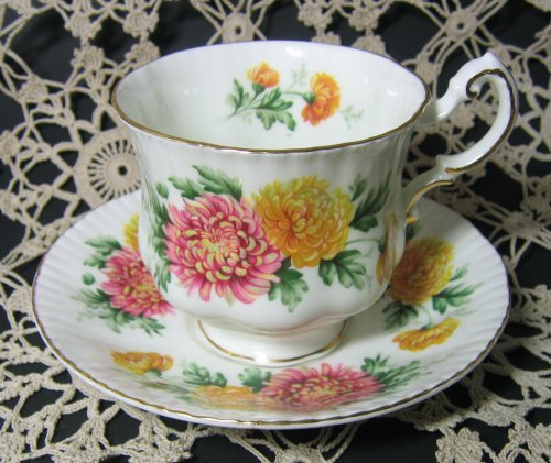 Vintage Paragon Tea Cup and Saucer Chrysanthemums