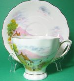 Colclough Cottage Countryside Teacup