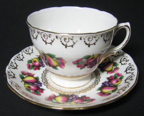 Vintage Colclough Teacup Fanciful Fruits
