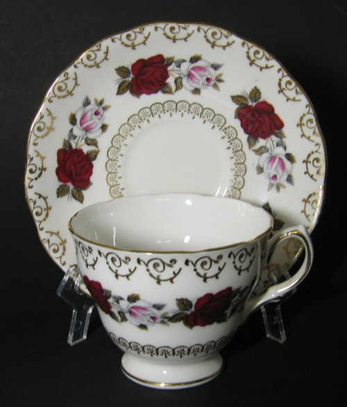 Colclough Roses Teacup and Saucer