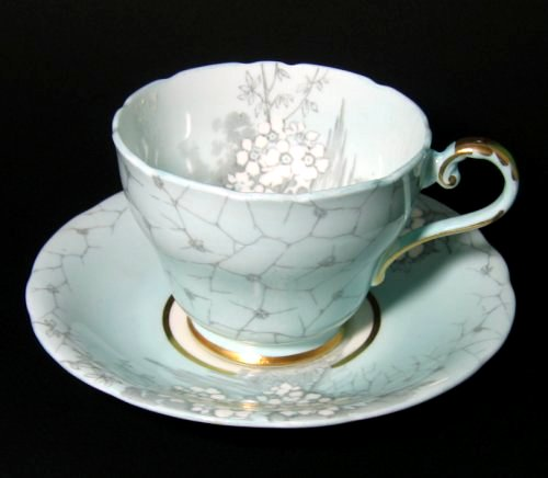 Aynsley Japanese Influenced Tea Cup and Saucer
