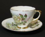 Vintage Delphine Floral Teacup and Saucer