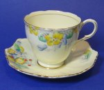 Paragon Art Deco Flowers Teacup