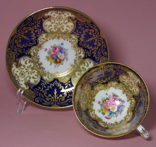 Crown Staffordshire Cobalt Gilt Victorian Tea Cup