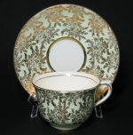 Colclough Green Gilt Teacup and Saucer