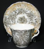 White Colclough Teacup with Floral Gilt