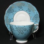 Colclough Blue Gilt Teacup and Saucer
