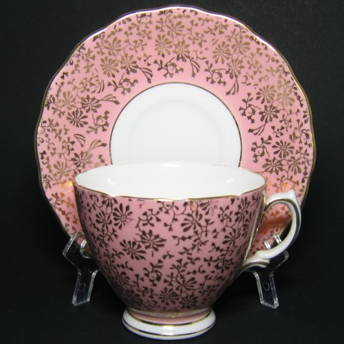 Colclough Pink Gilt Tea Cup and Saucer