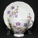 Colclough Purple Flowers Teacup