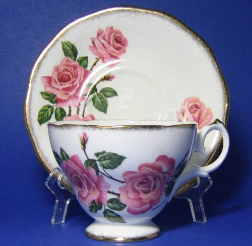 Vintage Queen Anne Royal Roses Tea Cup and Saucer