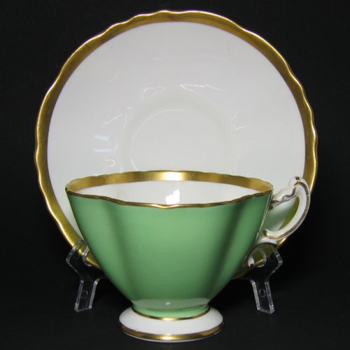 Hammersley Green Gilt Tea Cup Square Rim at Classy Option - Vintage ...