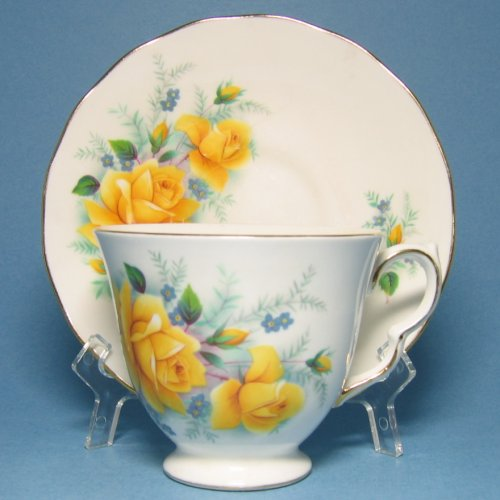 Queen Anne Bone China Tea Cup Yellow Roses