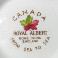 Canada Royal Albert Backstamp Label Name Sea to Sea