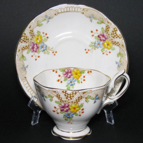 Royal Albert Deco Bouquet Floral Tea Cup