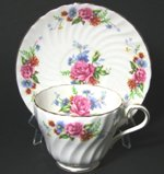 Aynsley Floral Bouquet Teacup and Saucer