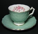 Aynsley Jade Teacup and Saucer
