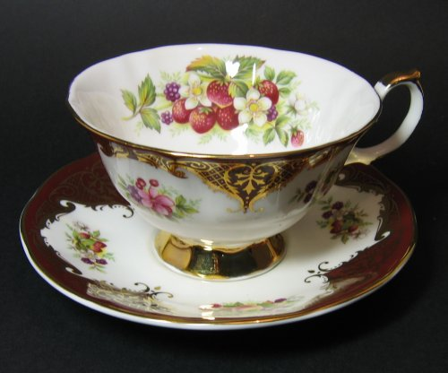 Elizabethan Staffordshire Teacup and Saucer