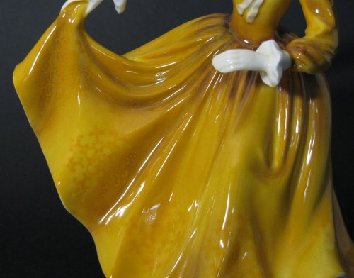 Pattern on Dress of Royal Doulton Figurine