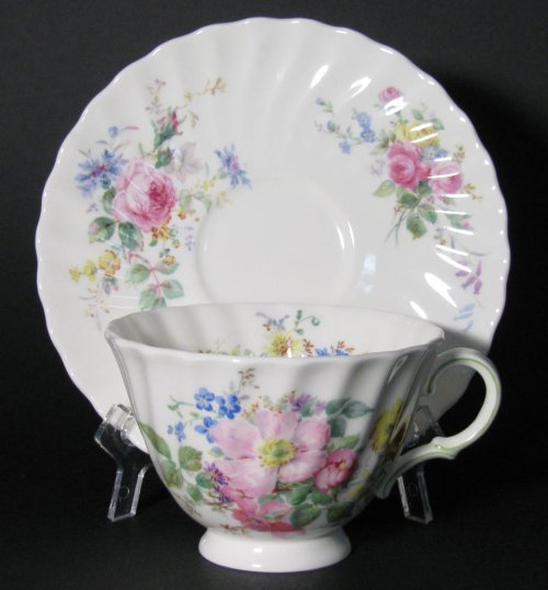 Royal Doulton Arcadia Floral Teacup and Saucer