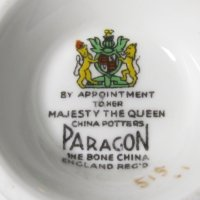 By Appointment to her Majesty the Queen Paragon Fine Bone China