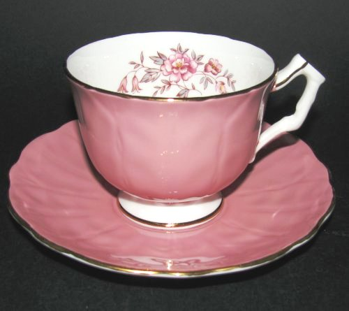 Aynsley Dusty Rose Floral Vintage Tea Cup