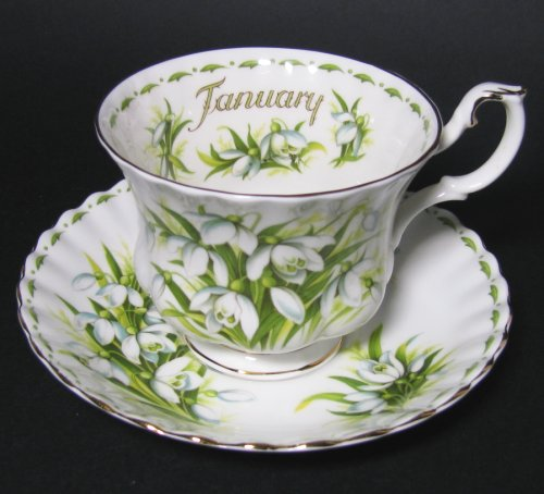 Royal Albert January Snowdrops Teacup and Saucer