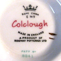 Colclough Made in England Bone China