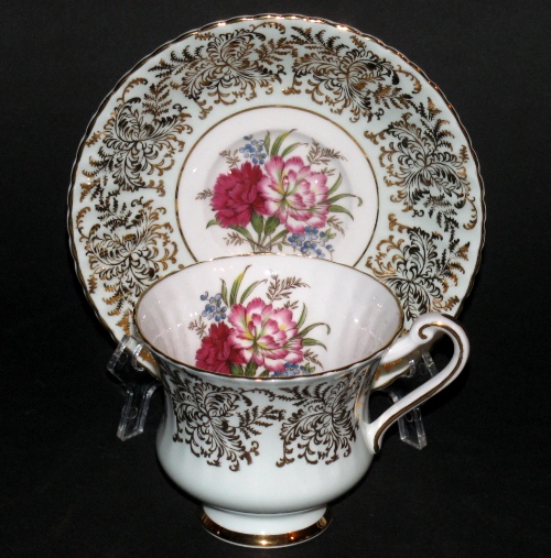 Paragon Gilt Floral Teacup and Saucer