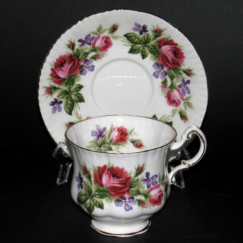 Paragon Red Roses Teacup and Saucer
