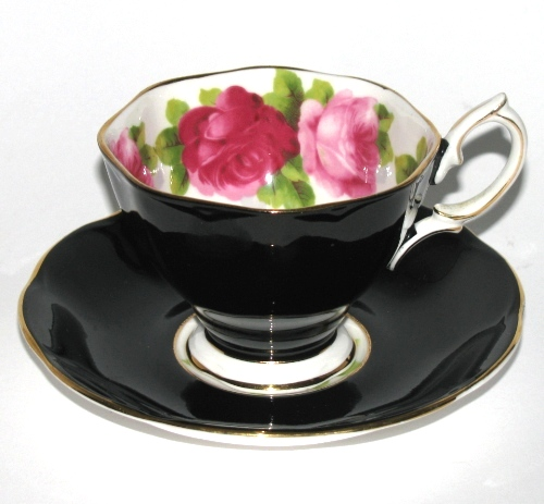Royal Albert Black Teacup and Saucer
