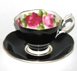 Royal Albert Black Teacup Red Roses