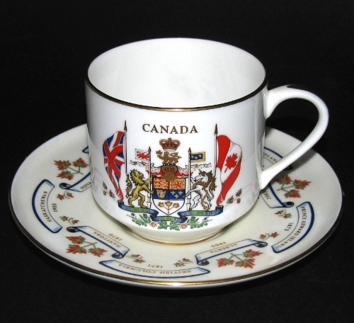 Aynsley Canada Confederation Teacup and Saucer