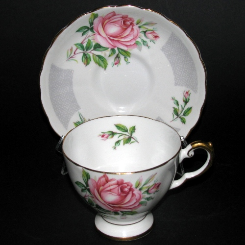 Tuscan Birthday Flowers Rose Teacup and Saucer