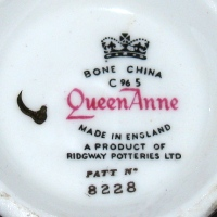 Queen Anne Ridway Potteries