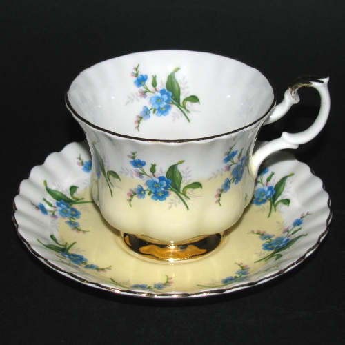 Royal Albert Blue Flowers Teacup and Saucer