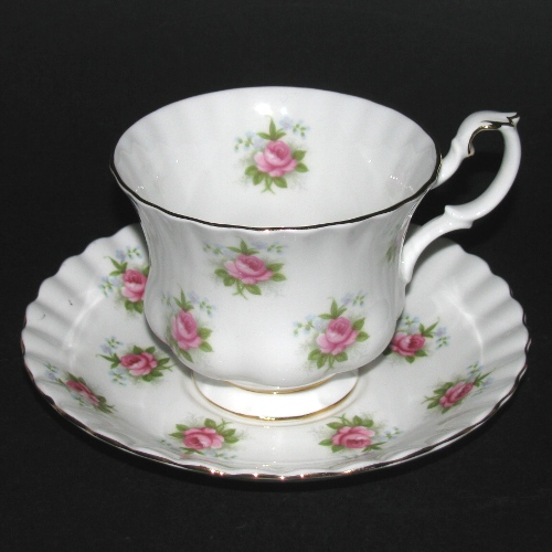 Royal Albert Forget-Me-Not Rose Teacup and Saucer