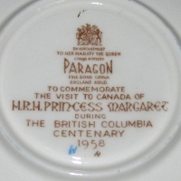 To Commemorate the Visit of Princess Margaret