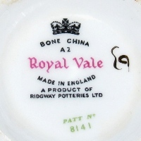 Royal Vale Ridgway Potteries