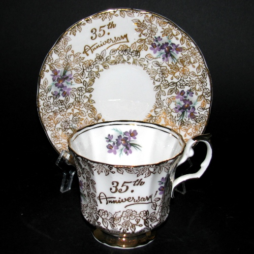 Elizabethan 35th Anniversary Teacup and Saucer
