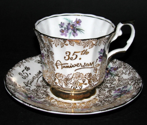 35th Anniversary Teacup