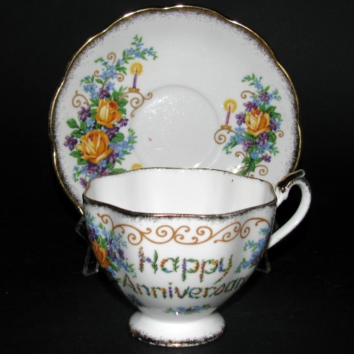 Happy Anniversary Teacup