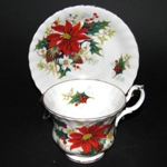 Poinsettia Teacup