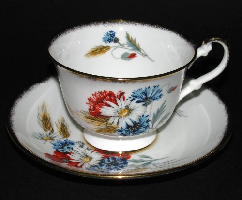 Red White Blue Teacup