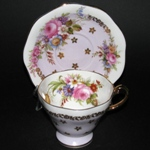 Lavender Floral Bouquet Teacup