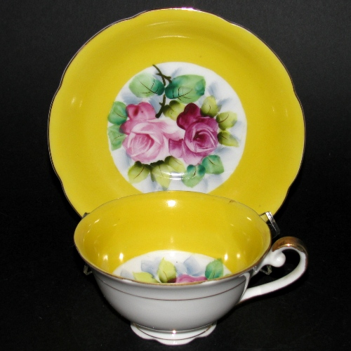 Occupied Japan Yellow Floral Teacup