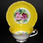 Yellow Floral Teacup